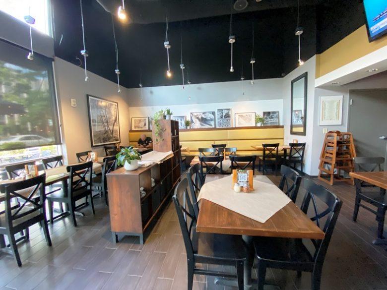 Interior of Pizzeria Omaggio in Charlotte - nctriangledining.com
