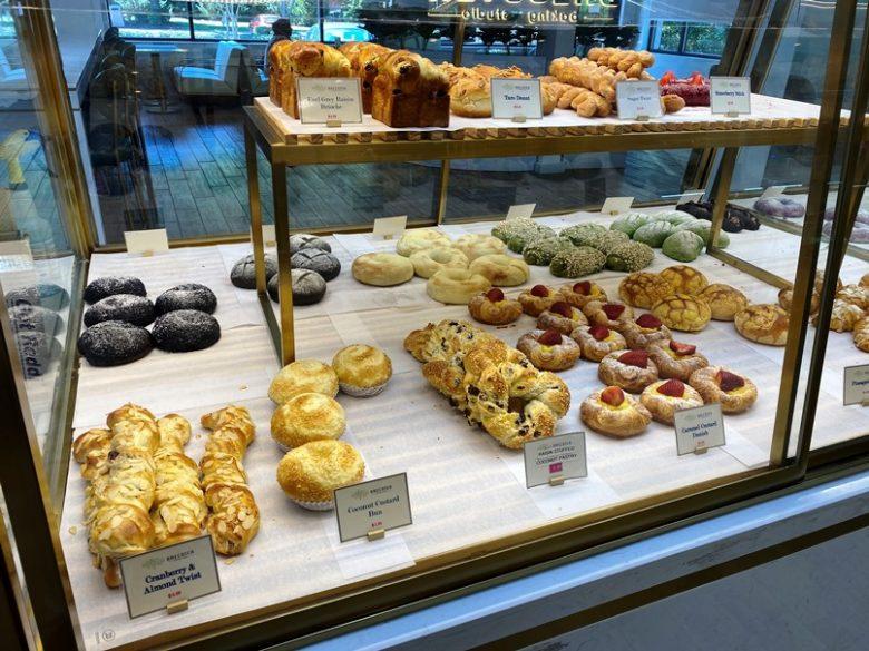 Center pastry display at Brecotea Baking Studio in Cary - nctriangledining.com