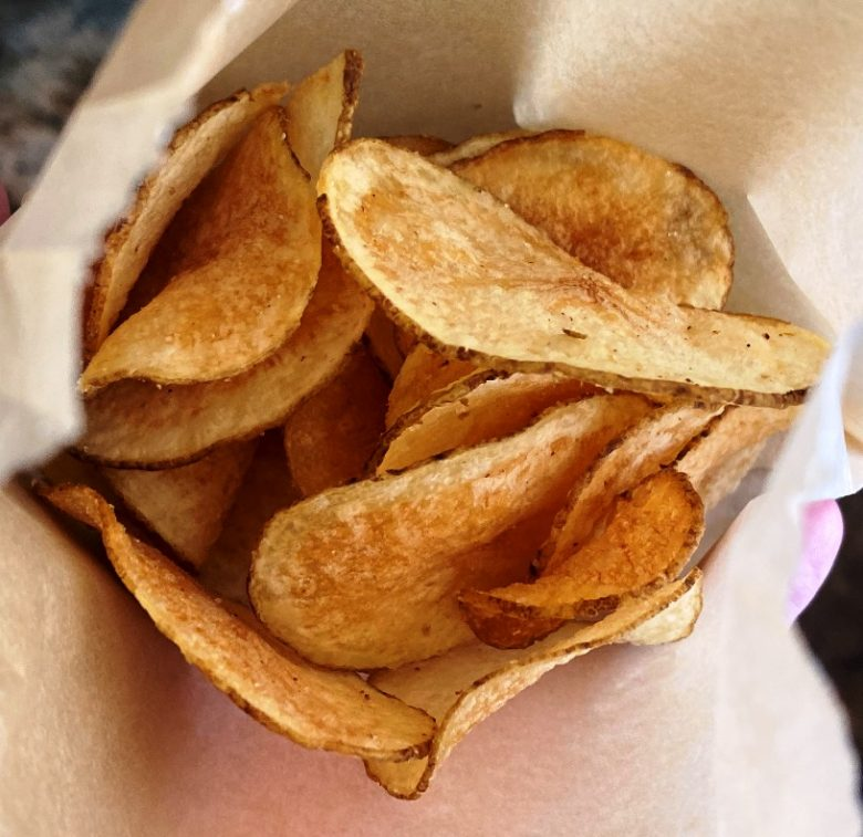 Garlic-onion chips at Ideal's Sandwiches and Groceries, Durham - nctriangledining.com