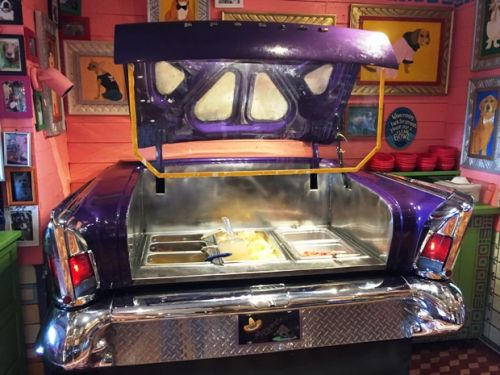 Free happy hour nacho car at Chuy's in Raleigh
