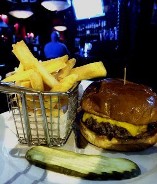 $5 Burger Monday at the Hibernian Pub
